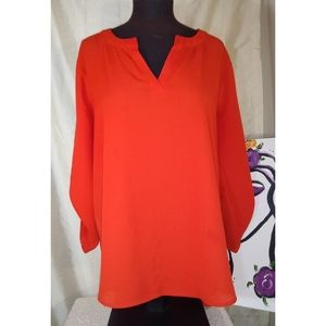 Cato XL High/Low Long Sleeve Tunic